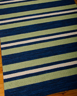 Oxford Stripe Rug, 5'3