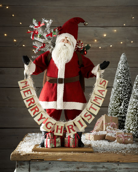 Park Hill Collections Vintage Style Merry Christmas Santa