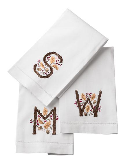 Fall Initial Guest Towel