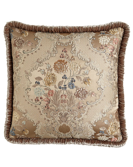 French Chantilly Floral Brocade European Sham