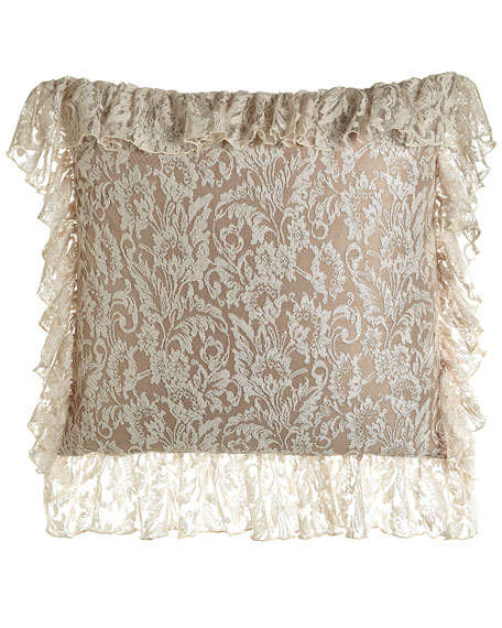 French Chantilly Lace European Sham