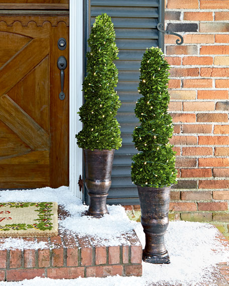 """Topiary Spiral Trees: Lighted 50"""" Spiral Topiary Tree"""