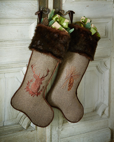 Christmas Stocking with Faux-Fur Cuff