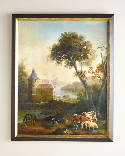The Castle's Pasture Giclee on Canvas Wall Art