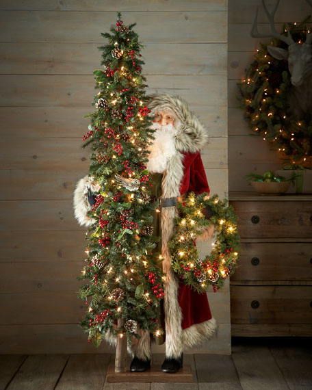 Ditz Designs By The Hen House Tuscan Holiday Santa