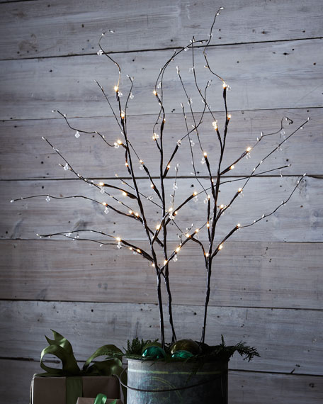 "39"" Crystal Lighted Branches"
