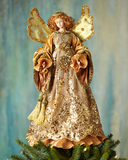Golden Angel Christmas Tree Topper
