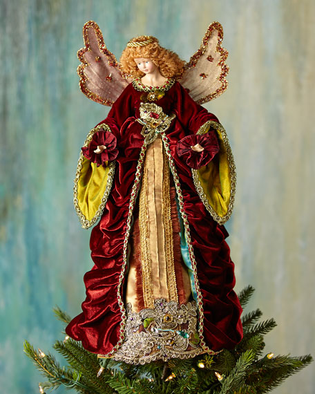 Katherine S Collection Nativity Angel Christmas Tree Topper