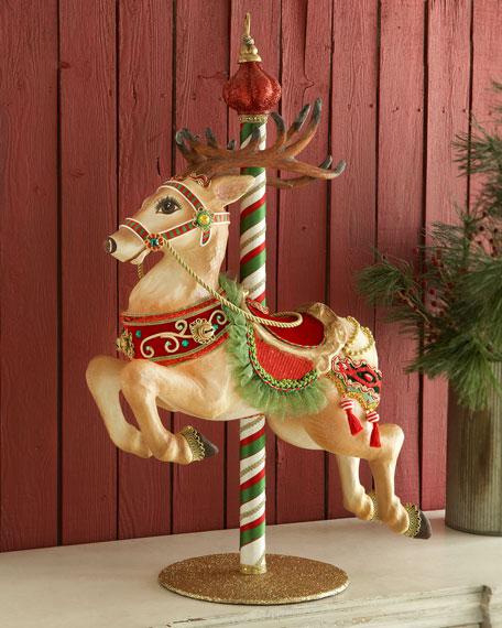 Katherine S Collection Carousel Reindeer Figure