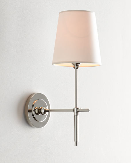Bryant Sconce with Polished Nickel Finish