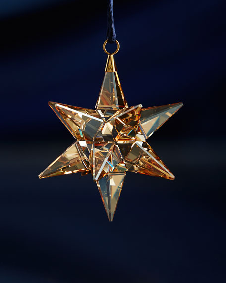 Golden Shadow Star Christmas Ornament