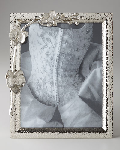 White Orchid 8 x 10 Photo Frame