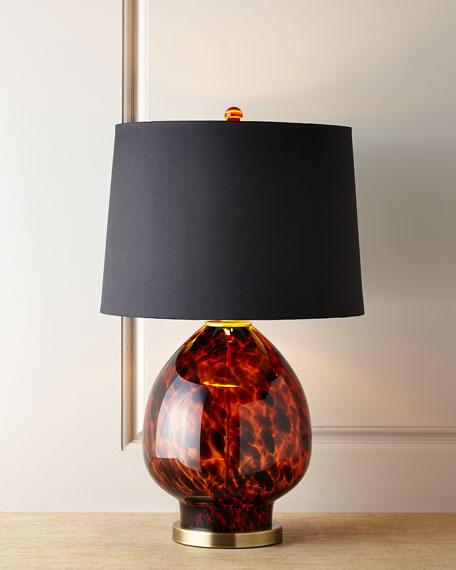 Tobias Tortoise Glass Table Lamp