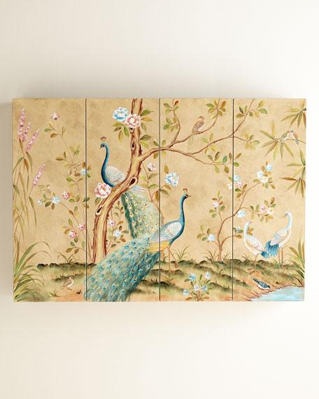 Peacock Flat-Screen TV Wall Cabinet