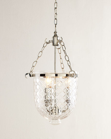 Neiman Marcus Diamonte Etched 3-Light Pendant