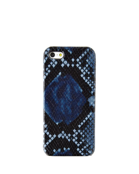 Python-Embossed Blue iPhone 5 Case