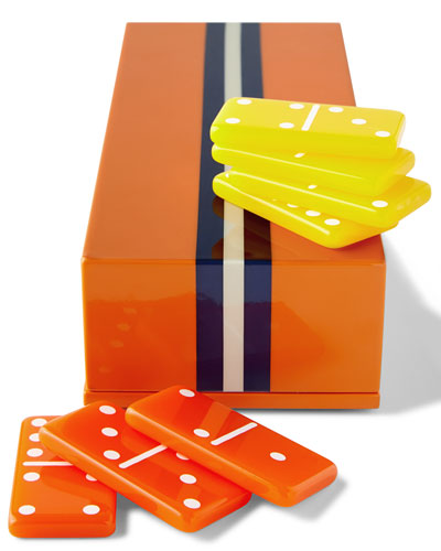 Orange Lacquer Domino Set