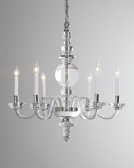 George II Large 6-Light Polished-Nickel Chandelier