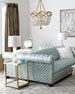 """Twin Lakes Tufted-Leather Double-Sided 86""""L Sofa"""