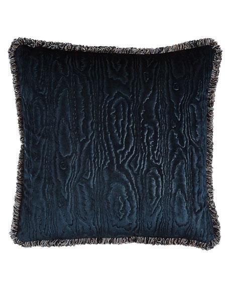 """Faux Bois Velvet Accent Pillow, 18""""Sq."""