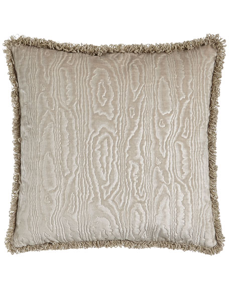 "Faux Bois Velvet Accent Pillow, 18""Sq."