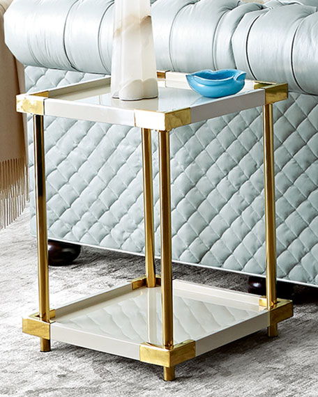 Leather Sofas Amp Hexagon End Tables At Neiman Marcus Horchow