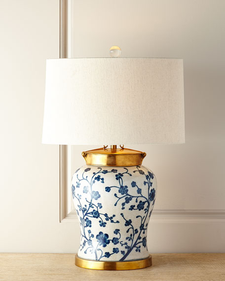 John-Richard Collection Blue Dogwood Table Lamp