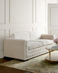 Haute House Bently White Tufted Sofa