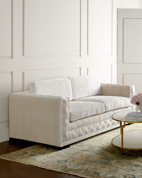 Haute House Bently White Tufted Sofa