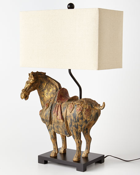 Dynasty Horse Lamps