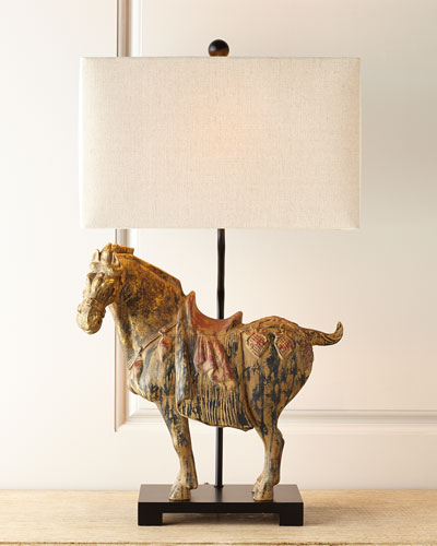 Dynasty Horse Lamps  Set of Two