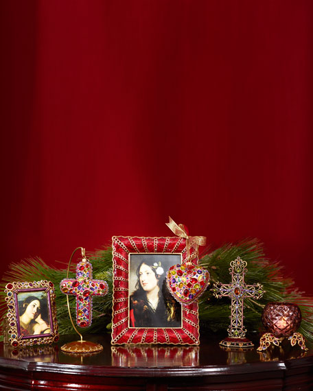 """Pave Ruffle 5"""" x 7"""" Picture Frame"""