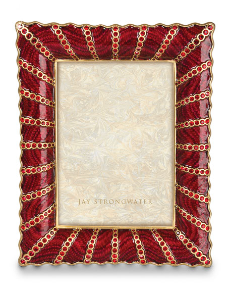 "Pave Ruffle 5"" x 7"" Frame"