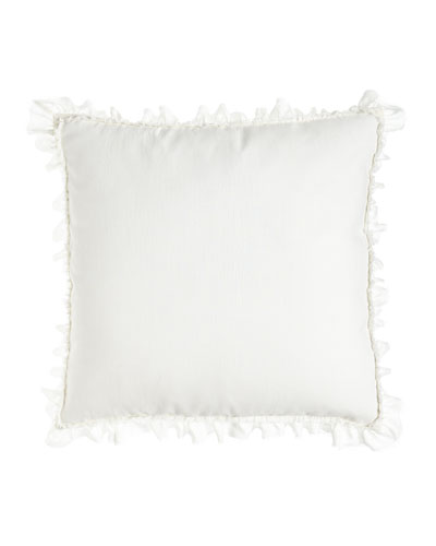 Ruffled  Frayed-Edge Mathilde European Sham  26Sq.