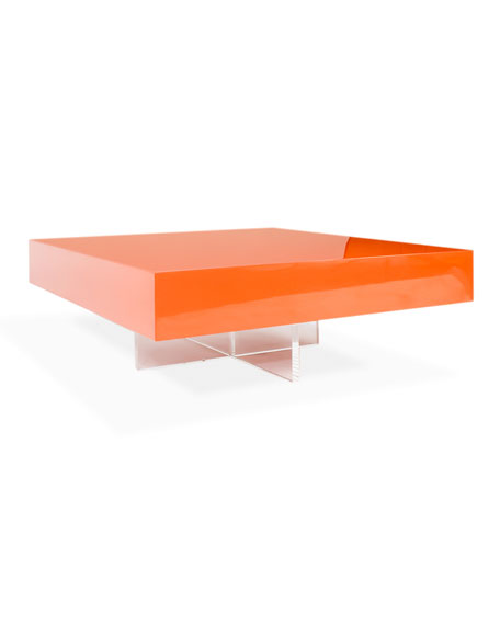 Jonathan adler lacquer block coffee table Jonathan adler coffee table