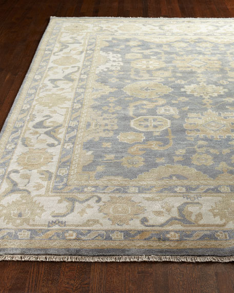 Exquisite Rugs Blue Ivy Oushak Rug, 6' x