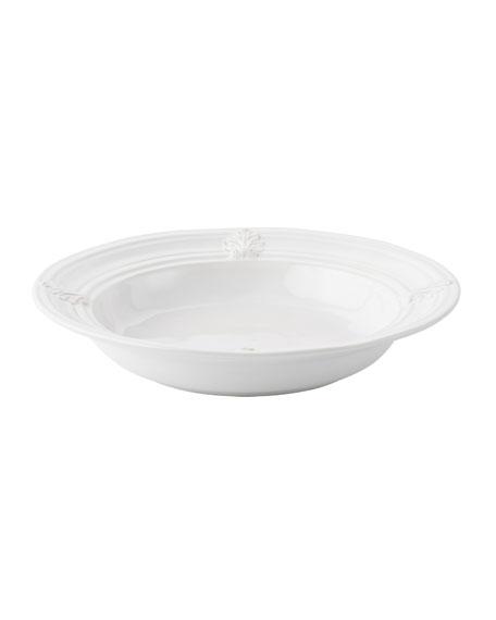 Acanthus Whitewash Pasta/Soup Bowl