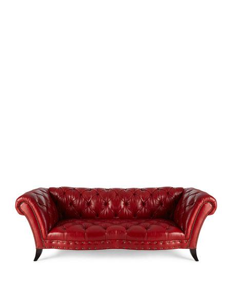 Bourdeaux Leather Sofa