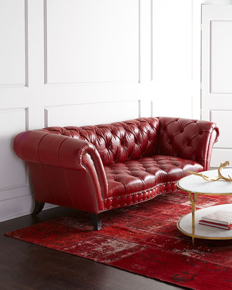 Bourdeaux Leather Sofa 97""