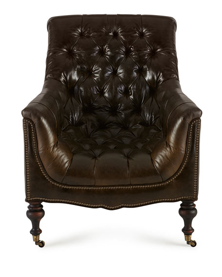 Tufted Moss Chair
