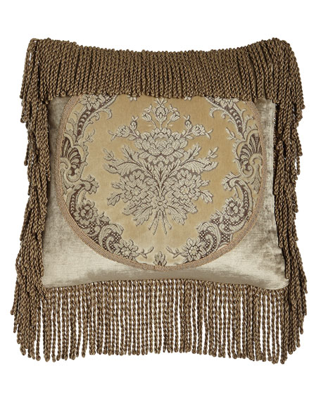 Marquis Framed Pillow with Bullion Fringe, 18