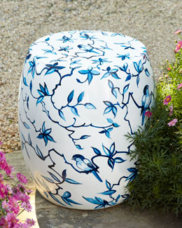 Bluebirds Garden Stool