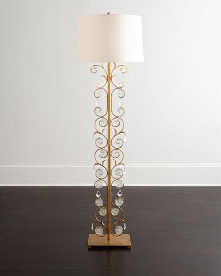 glass petal floor lamp With glass petal floor lamp
