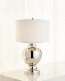 Silvery Urn-Base Lamp