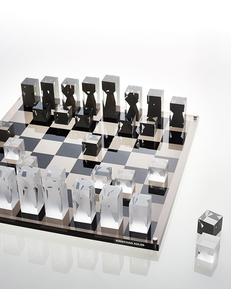 Jonathan adler acrylic chess set - Karim rashid chess set ...