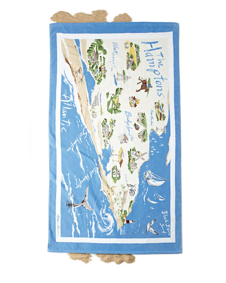 The Hamptons Destination Beach Towel