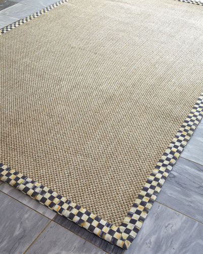 Courtly Check Sisal Rug, 2' x 3'