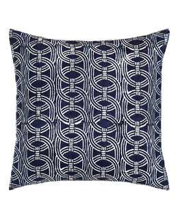 American Summer Navy Barrel Pillow