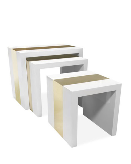 Lacquer & Brass Nesting Tables
