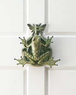 Frog & Bee Door Knocker